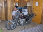 Randy, Fixing his throttle cable in the Motel Room