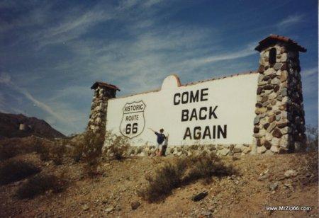 Colorado River Route 66 Sign near Topock