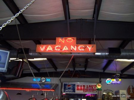 "No Vacancy Sign, from the 1969 Movie ""Easy Rider"""