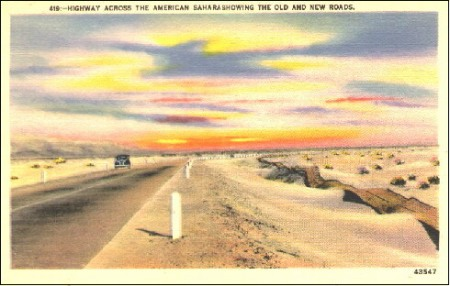 Old Post Card of a Plank Road